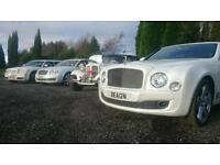 wedding cars hire Preston / vintage car hire / Rolls royce hire / limo hire