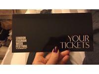 3x Gold tIckets to London Fashion Week 23rd Feb