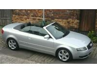 BARGAIN AUDI A4 CONVERTIBLE, 2.4 V6 SPORTS LPG GAS , SERVICE HISTORY, BLACK LEATHER INTERIOR