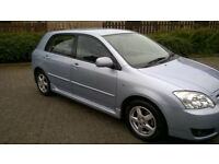 Toyota Corolla 1.4vvti 2 keys low miles now moted for 1 year