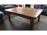 Pine coffee table 4 foot by 2 foot 8 inches.