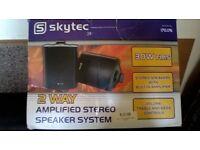 Skytec amplified stereo speaker system - 30 watt RMS -