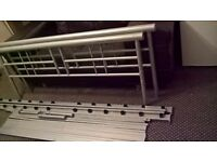 Silver metal double bed 4.6ft