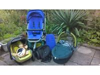 Quinny Buzz Xtra stroller in purple plus extras
