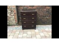 Old Small Wooden Chest of 4 Drawers - Can Deliver