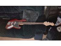 Walnut squier bass guitar upgraded parts