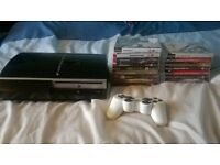 ps3 60gb controller and 16 games