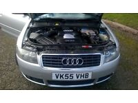 Audi A4 convertible in silver immaculate car full black leather mottill October will give 12 months