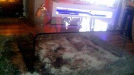 glass coffee table..