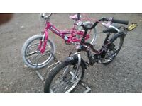 mountain bike KIDS 3 OFF 2 with 20 inch wheels and 1 with stabilizer £15 each can deliver