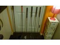 6 golf clubs