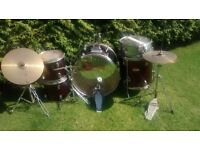 Percussion Plus 700S 7 piece drum kit