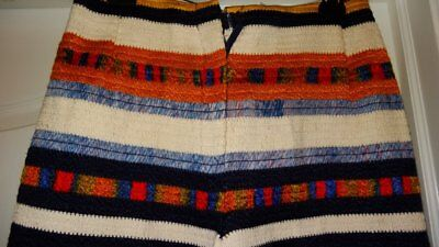 LN Vintage True 1960's Cotton Woven Striped USA Made Hippie Pants Unlined 60's