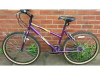 Ladies Syncrony mountain bike 18 inch frame, excellent condition and ready to ride