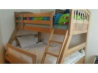 Triple Bunk Bed Solid Wood