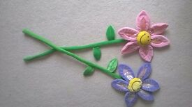 Tall Bendy Smiley Flowers 1m