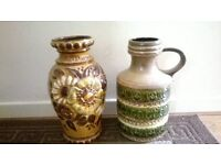 two fabulous west german scheueich floor vases
