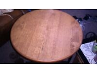 Round wooden pub style table