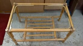 Bamboo conservatory coffee table H 18in W 18in L 30in