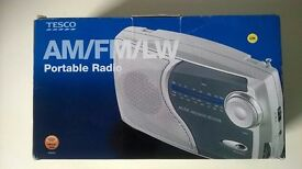 Tesco AM/PM/LW Portable Radio