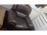 Genuine Leather Armchair - v. good condition, very comfortable
