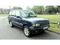 2002 RANGE ROVER P38 4.6 VOGUE AUTO MET BLUE TOP SPEC LONG MOT LOW MILEAGE NICE 4X4