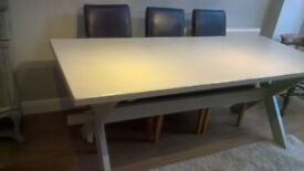 8 seater pine dining table