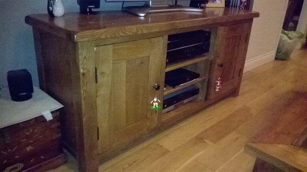 Oak Large TV Unit