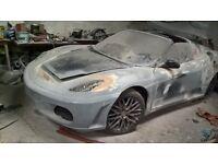 Replica Ferrari half finished project, MR 2 GT - T BAR