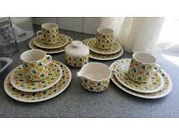 "VILLEROY & BOCH "" VALENCIA"" GERMANY SAUCERS PLATES CUPS X 4 MILK AND SUGAR"