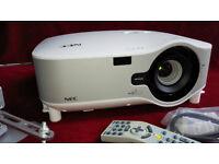 NEC NP3250 Projector, 5000 ANSI Lumen brightness, Wi-Fi, + New NEC bulb