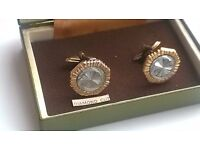 Multi Tonned Cufflinks Yellow Gold Tone and Silver Tone Boxed SOPHOS -can post for extra-
