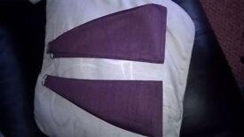 curtain tie backs brand new colour aubergene