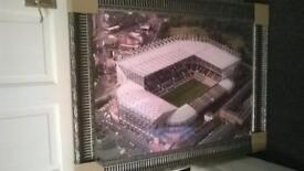 Framed aerial photo of St James Park Newcastle United