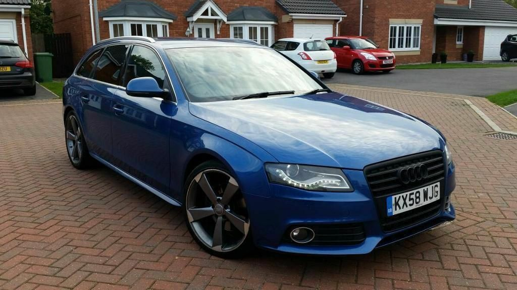 2009 audi a4 2 0 tdi s line auto avant 5 door blue fully loaded leathers rota wheels drl lights. Black Bedroom Furniture Sets. Home Design Ideas