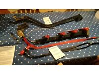 4 cycle tow hitch rack for 4x4 with door mounted spare wheel
