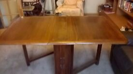 1960s Drop Leaf Dining Table and Chairs