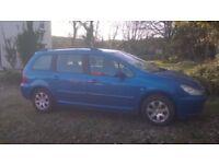 Peugeot 307 auto 1.6 petrol 2004 FULL MOT Only 84k