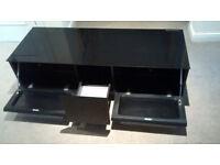 JohnLewis TV Unit . Black gloss, 3 drawers . Like new