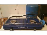 Camping gaz cooker with gas bottle