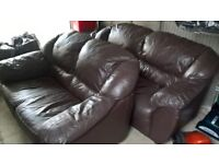 **** 2 LEATHER SOFA'S FOR SALE ****