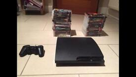 PlayStation 3 slim 120gb with over 30 games included