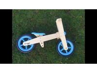 Excellent condition Wooden balance bike