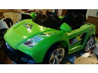 Electric ride on X racer sports coupe (new and unused)