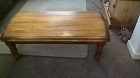 solid oak coffee table for sale.