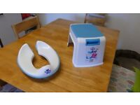 Pourty Up Step Stool plus Pourty Flexi-Fit Toilet Trainer. - hardly used.