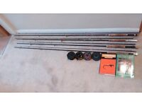 4 fly rods and 4 fly reels plus lots of flys