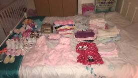 Baby girls clothes age 0/3 ,3/6 and toys/ walker