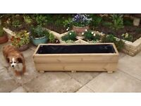 Hand made decking planters