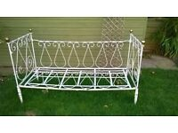 Antique French iron cot/day bed